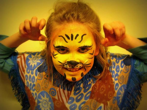 Malowanie Twarzy Tygrys
